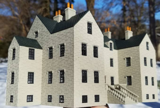 photo about Free Printable Model Buildings named Free of charge 3-d revealed creating package STL information